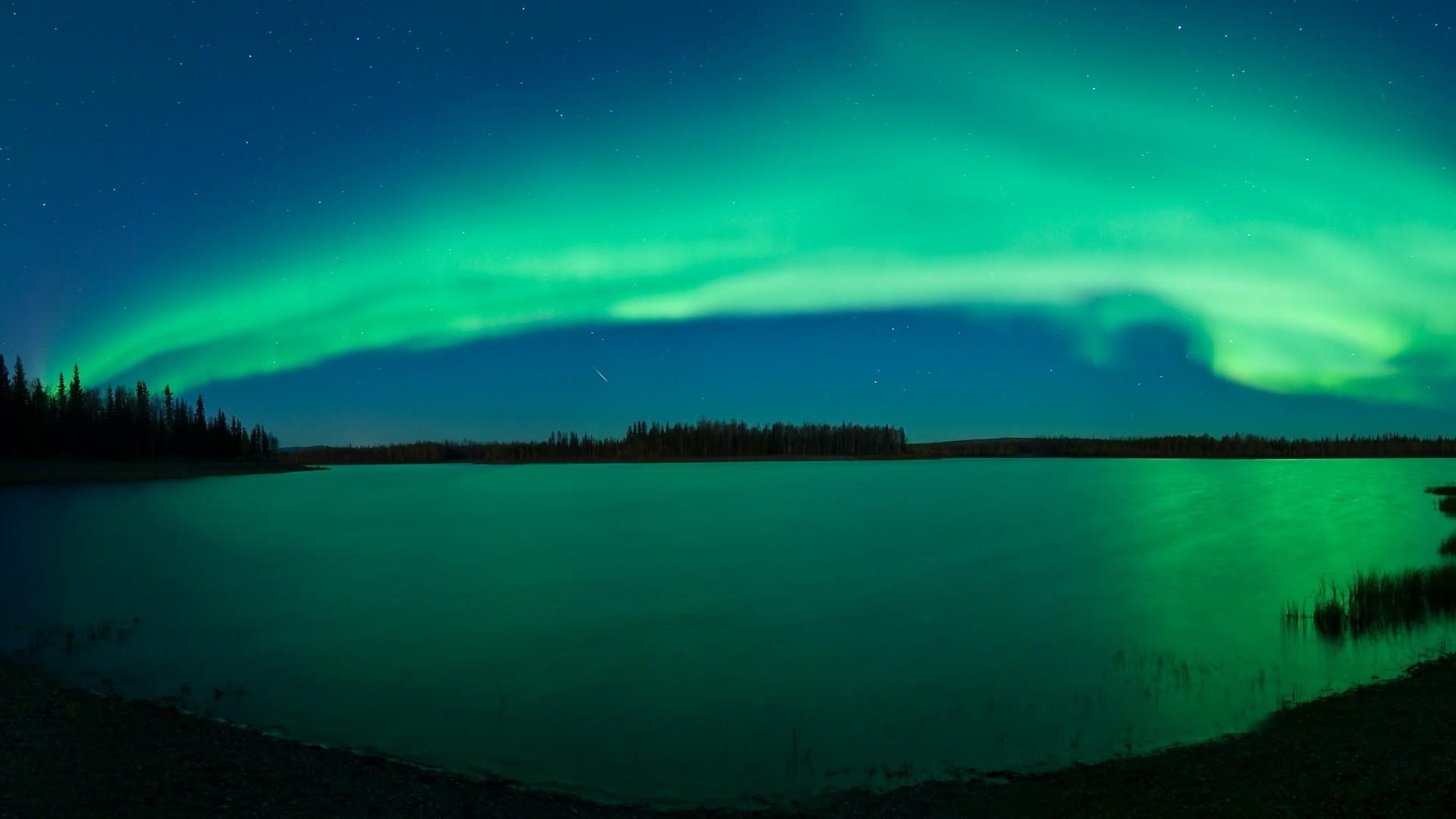 Northern lights aurora borealis polar lights wallpaper 1920x1080