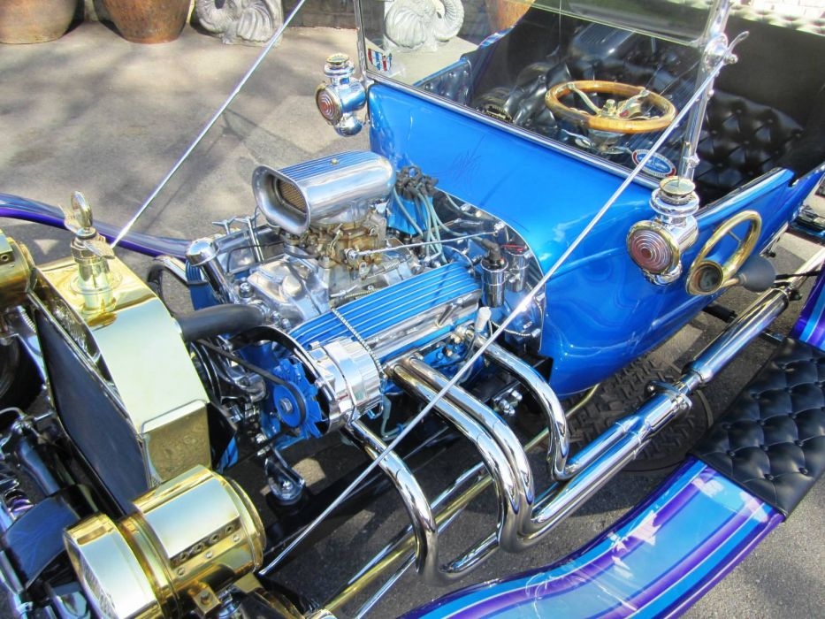 1916 Ford hot rod rods retro engine  f wallpaper
