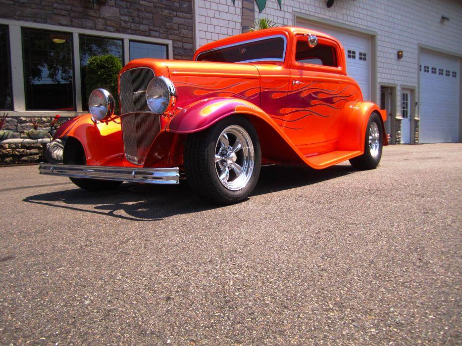 1932 Ford hot rod rods custom retro    fs wallpaper