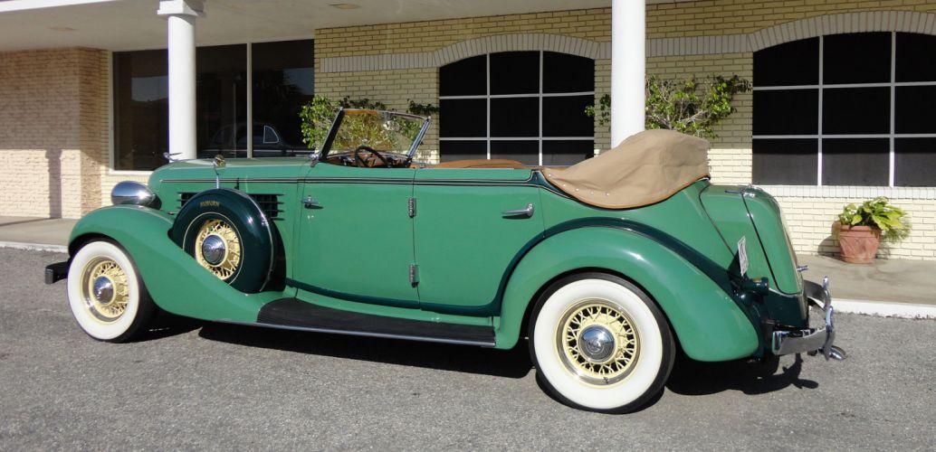 1935 AUBURN 851 PHAETON luxury retro r wallpaper