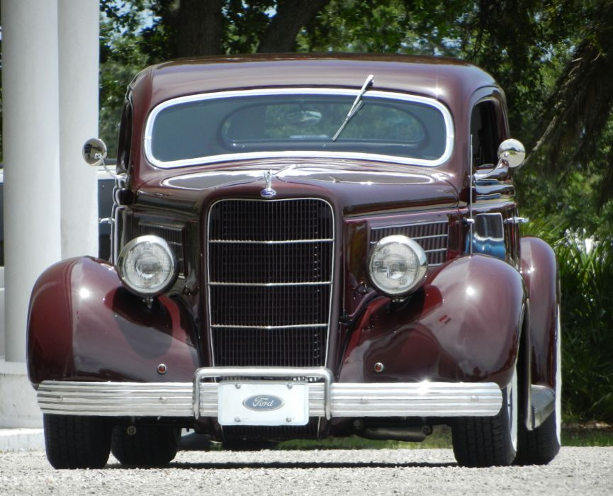 1935 FORD 5-WINDOW COUPE HOT ROD rods retro custom   d wallpaper