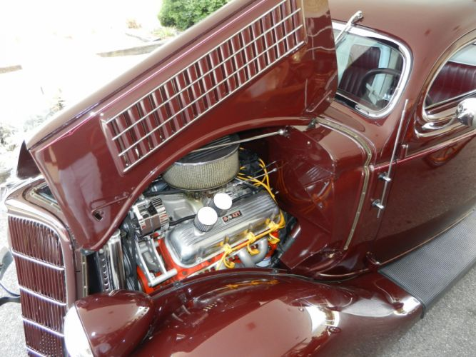 1935 FORD 5-WINDOW COUPE HOT ROD rods retro custom engine g wallpaper