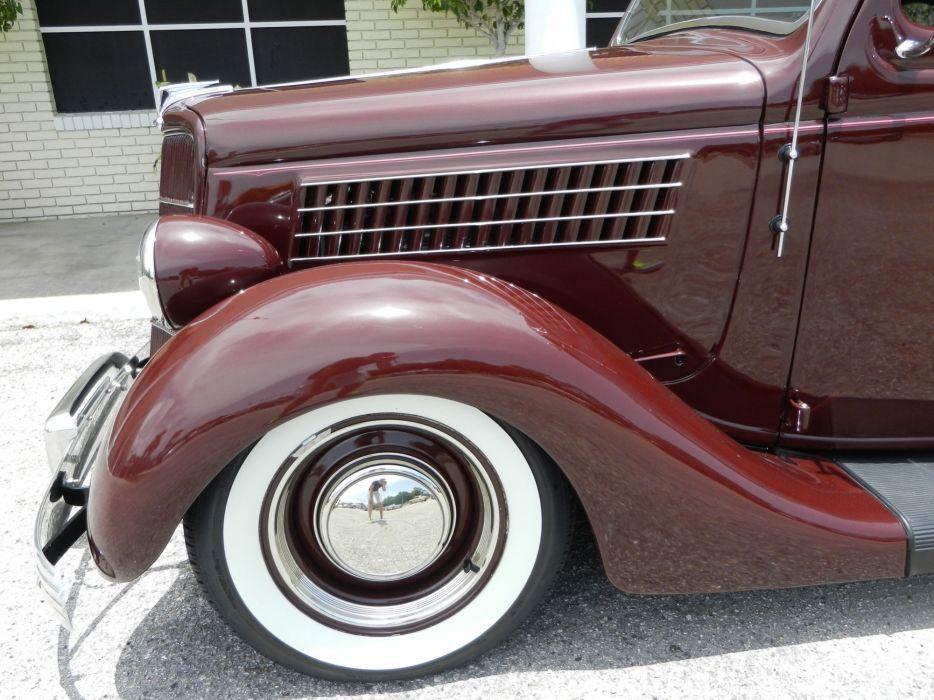 1935 FORD 5-WINDOW COUPE HOT ROD rods retro custom wheel      h wallpaper