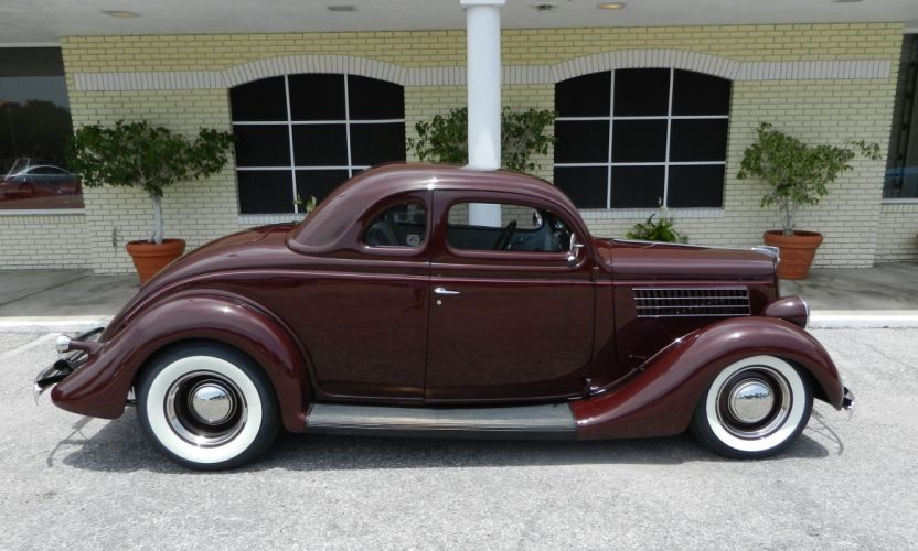 1935 FORD 5-WINDOW COUPE HOT ROD rods retro custom h wallpaper
