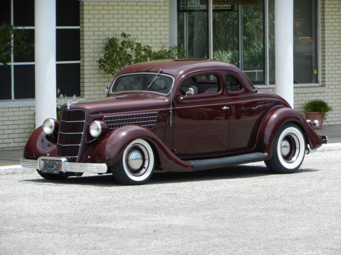 1935 FORD 5-WINDOW COUPE HOT ROD rods retro custom fd wallpaper