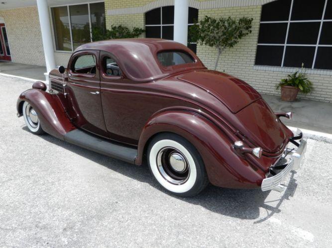 1935 FORD 5-WINDOW COUPE HOT ROD rods retro custom f wallpaper
