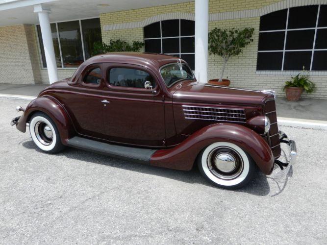 1935 FORD 5-WINDOW COUPE HOT ROD rods retro custom fs wallpaper