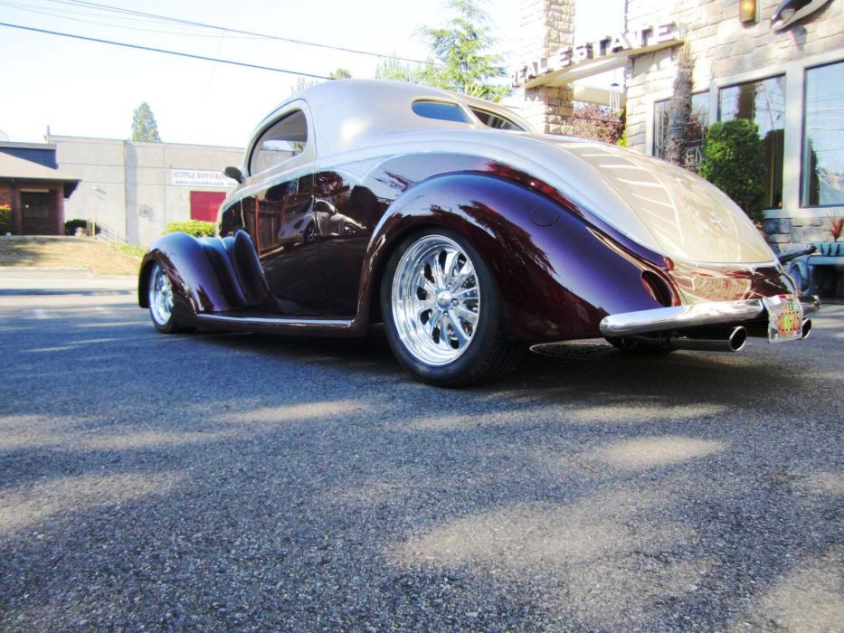 1937 Ford 3-Window Coupe hot rod rods retro custom       g wallpaper