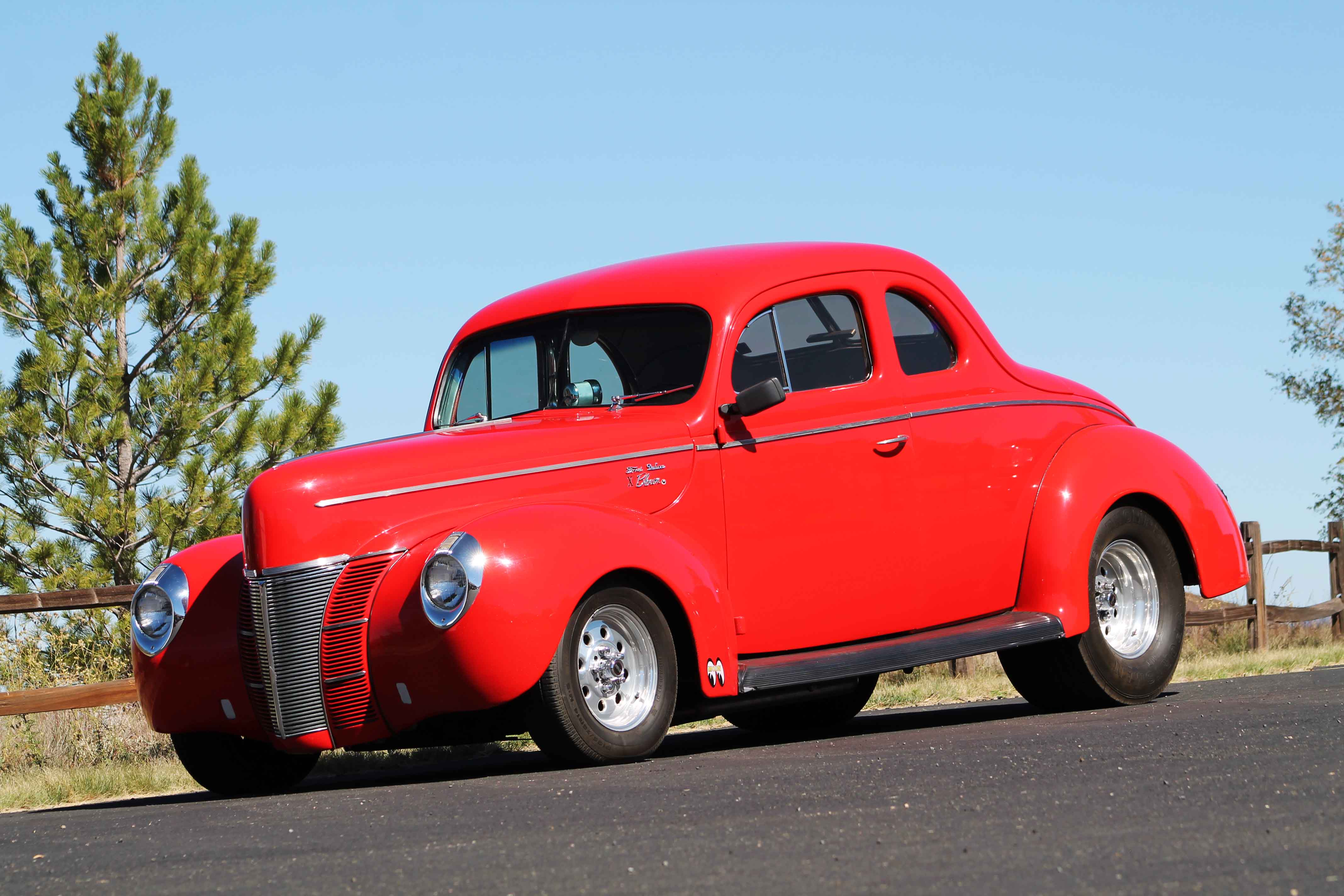 1940 Ford Deluxe Coupe hot rod rods retro r wallpaper background