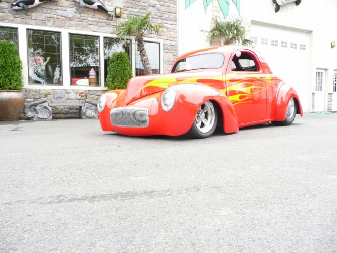 1941 Willys Coupe hot rod rods retro d wallpaper