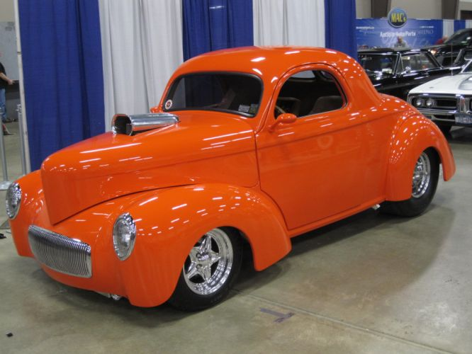 1941 Willys Coupe hot rod rods retro f wallpaper