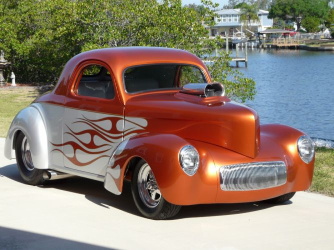 1941 Willys Coupe hot rod rods retro fg wallpaper