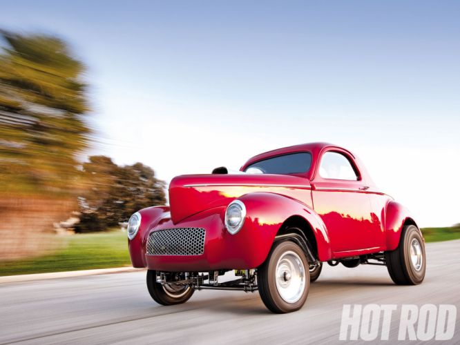 1941 Willys Coupe hot rod rods retro drag race racing f wallpaper