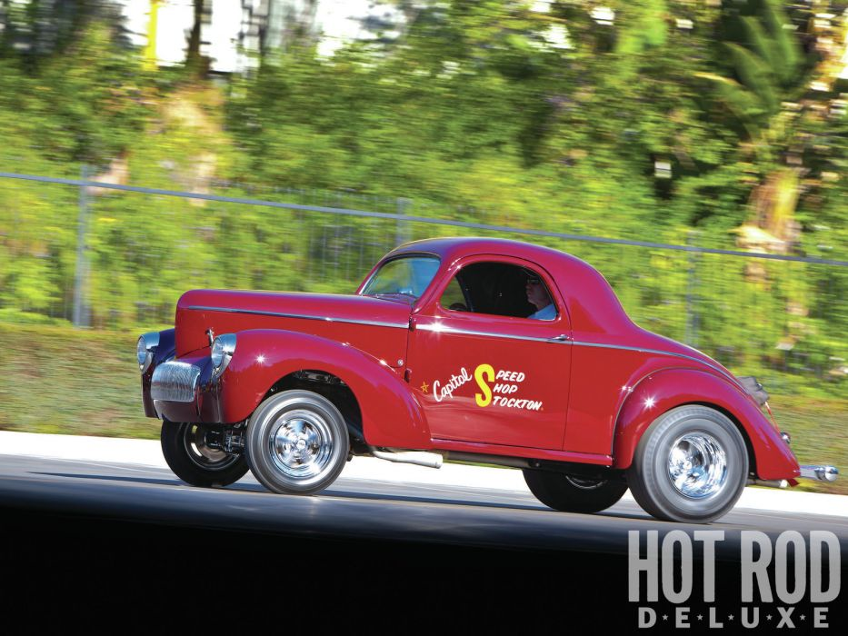 1941 Willys Coupe hot rod rods retro drag race racing   r wallpaper