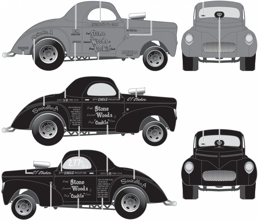 1941 Willys Coupe hot rod rods retro drag race racing  t wallpaper