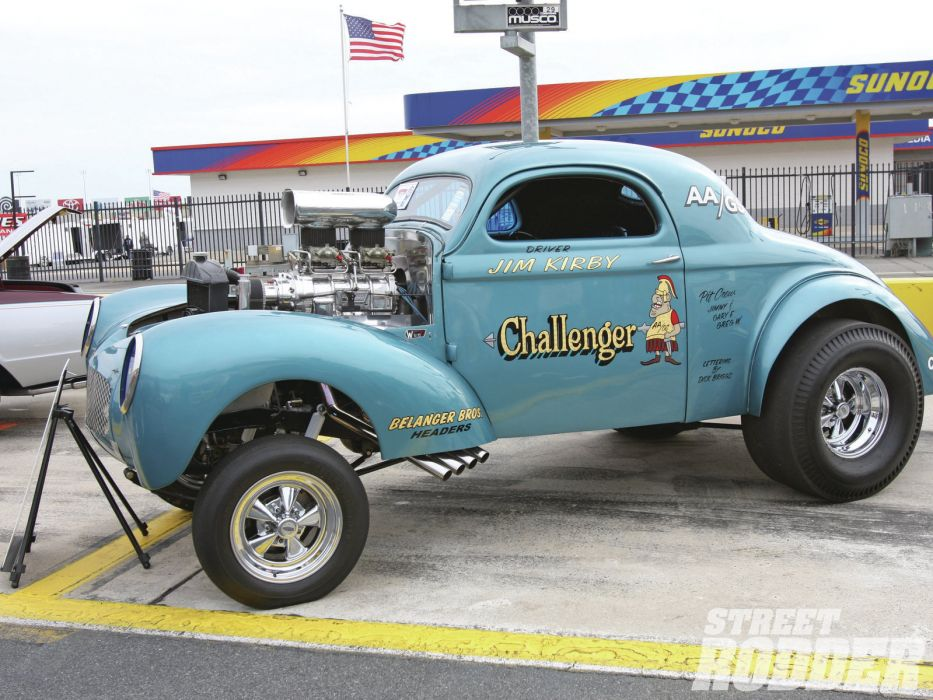 1941 Willys Coupe hot rod rods retro drag race racing engine    r wallpaper