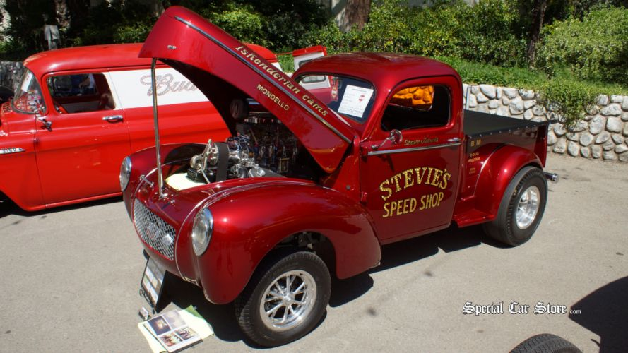 1941 Willys Coupe hot rod rods retro drag race racing pickup engine r wallpaper