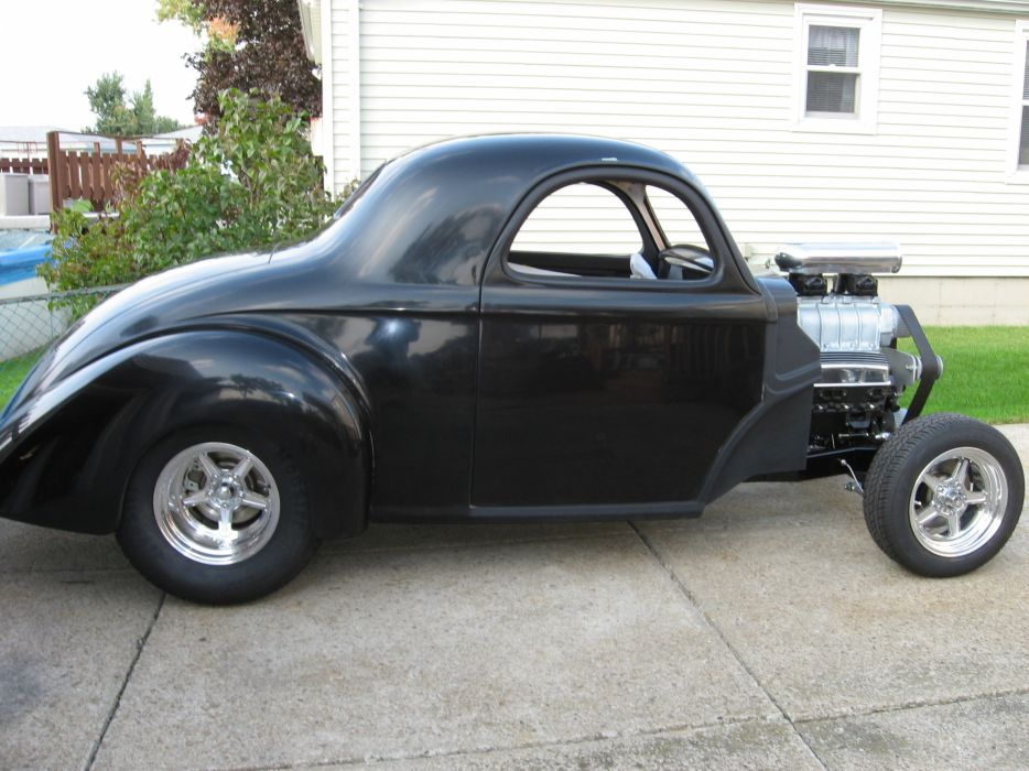 1941 Willys Coupe hot rod rods retro engine   fs wallpaper