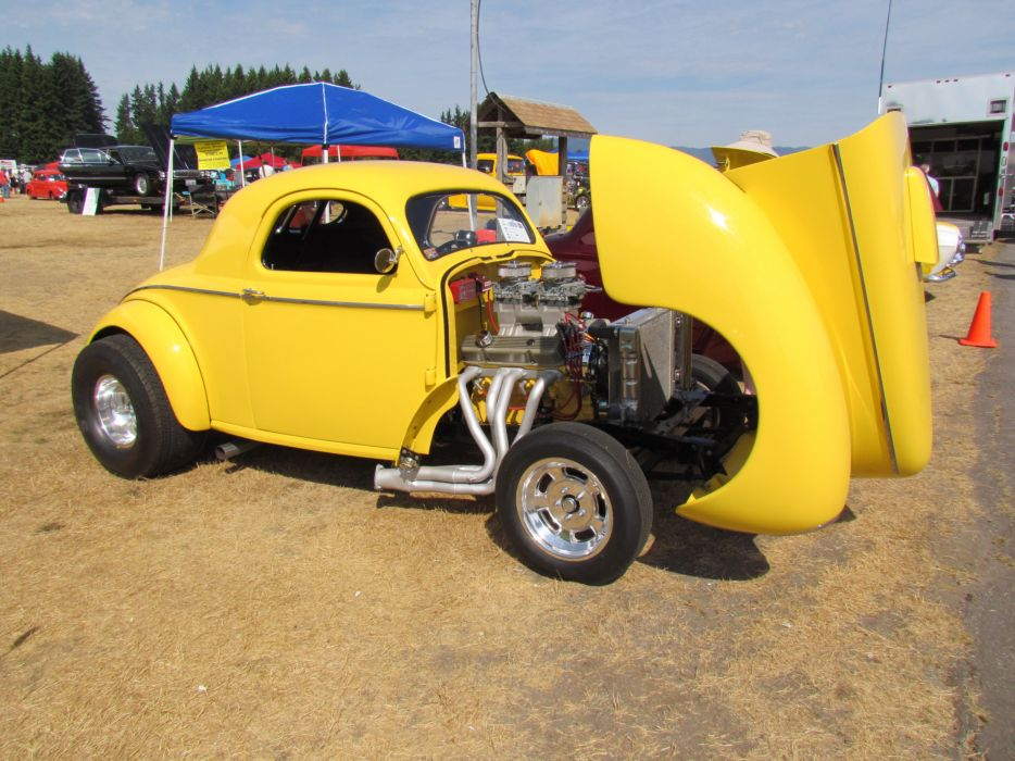 1941 Willys Coupe hot rod rods retro engine g wallpaper
