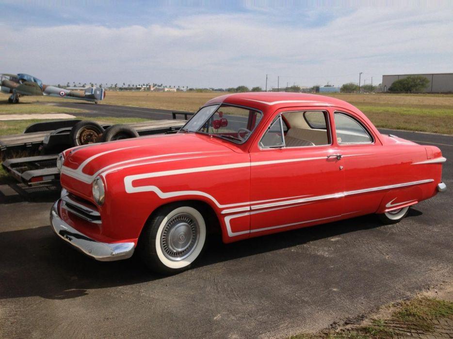 1949 Ford custom shoebox retro lowrider        g wallpaper