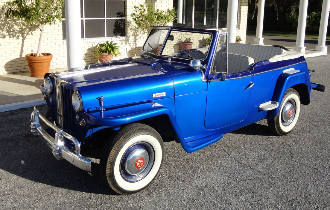 1949 WILLYS JEEPSTER 4x4 retro jeep     h wallpaper