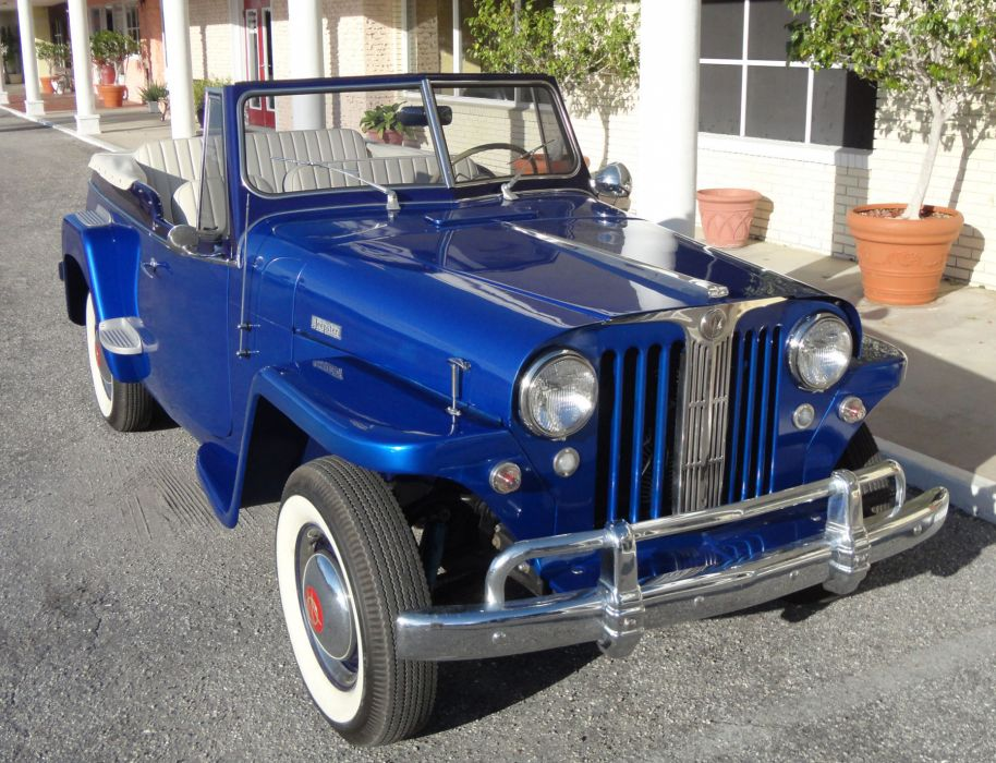 1949 WILLYS JEEPSTER 4x4 retro jeep    d wallpaper