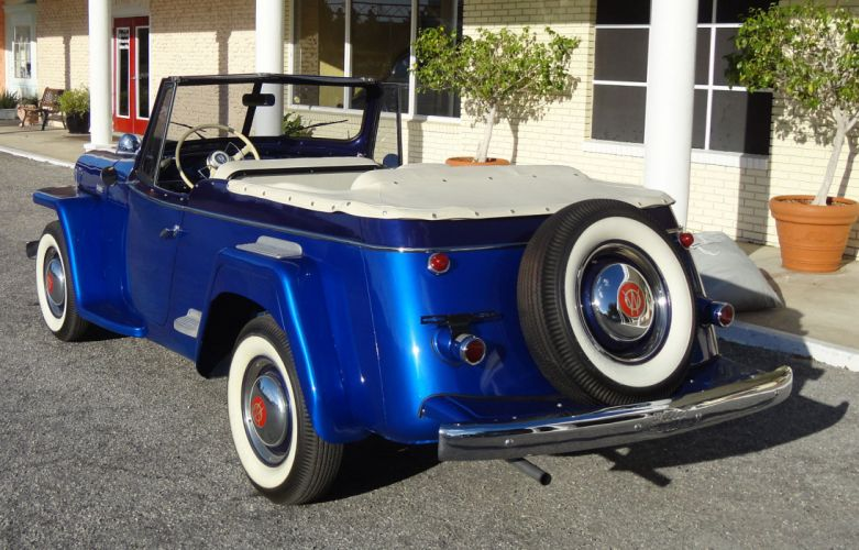 1949 WILLYS JEEPSTER 4x4 retro jeep t wallpaper