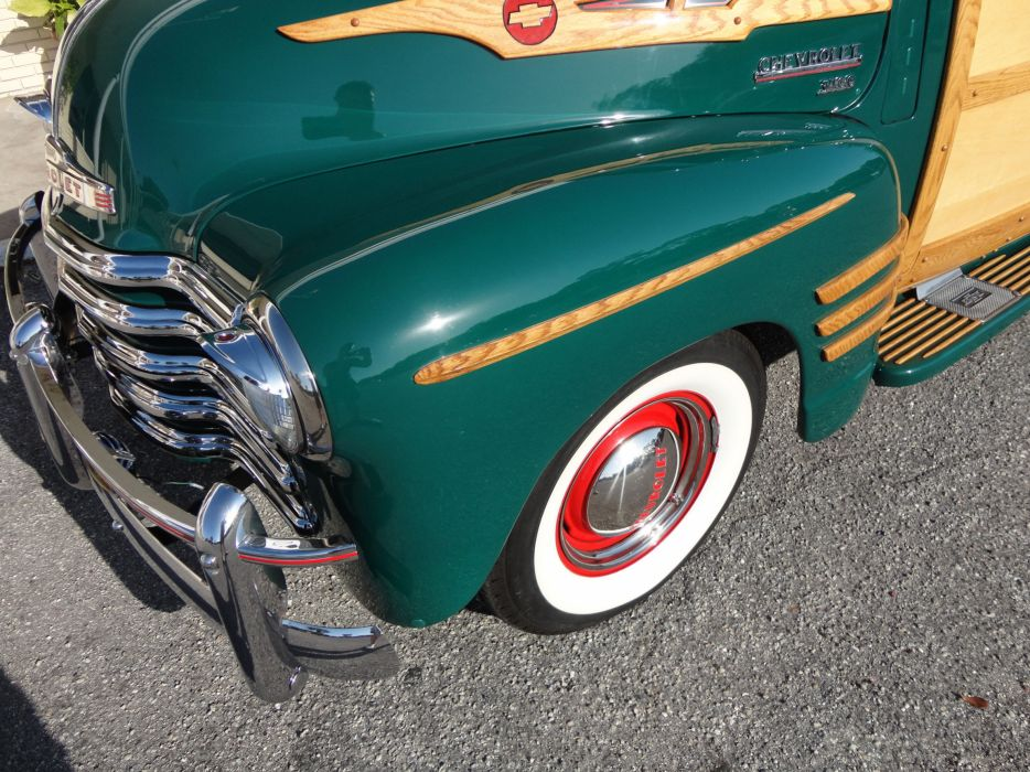 1950 CHEVROLET 3100 CUSTOM WOODY PICKUP retro wheel  v wallpaper
