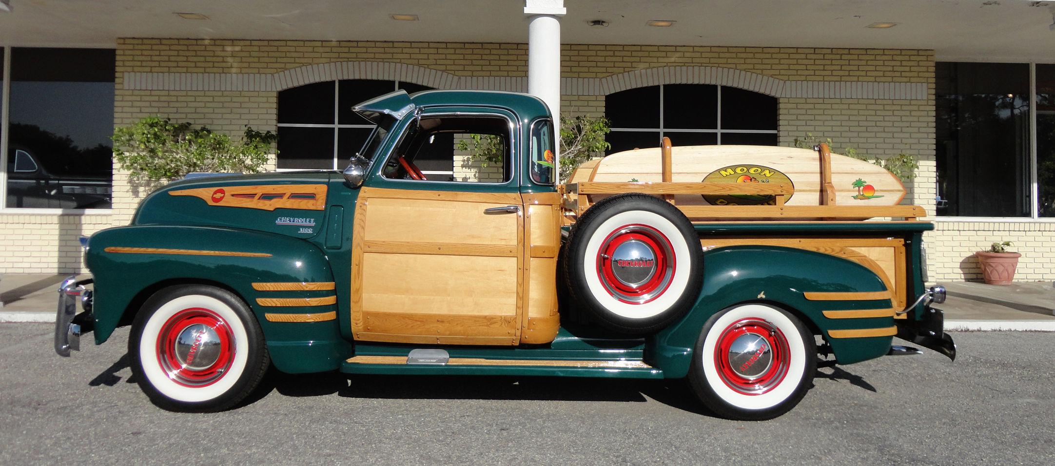 1950 CHEVROLET 3100 CUSTOM WOODY PICKUP retro wheel g wallpaper ...