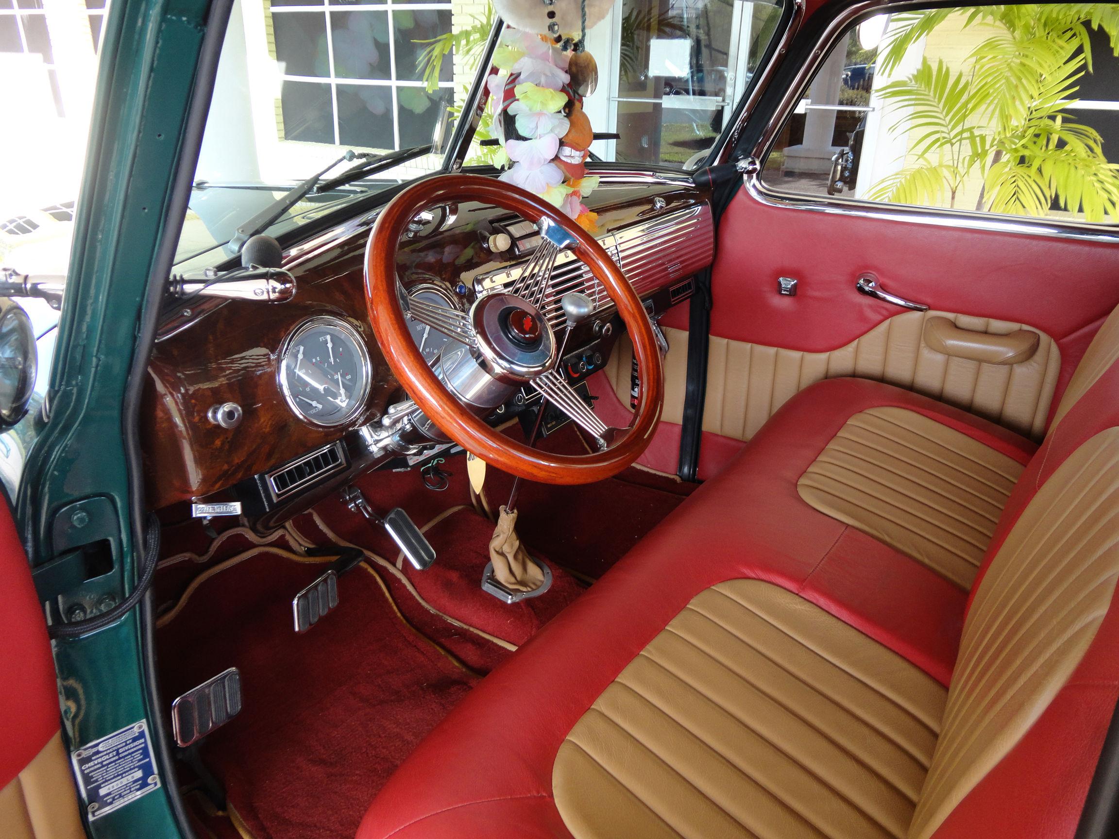 1950 Chevrolet 3100 Custom Woody Pickup Retro Interior H
