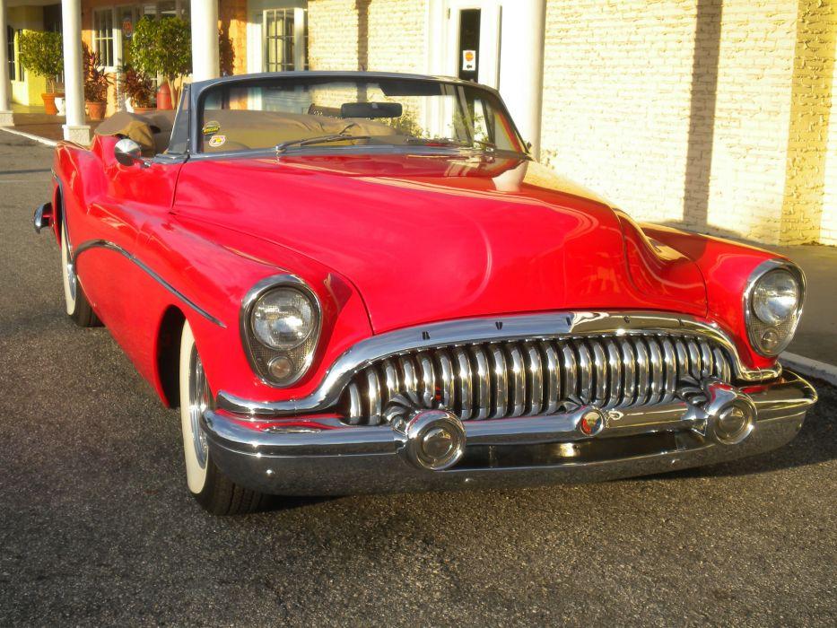 1953 Buick Skylark Convertible retro custom    g wallpaper