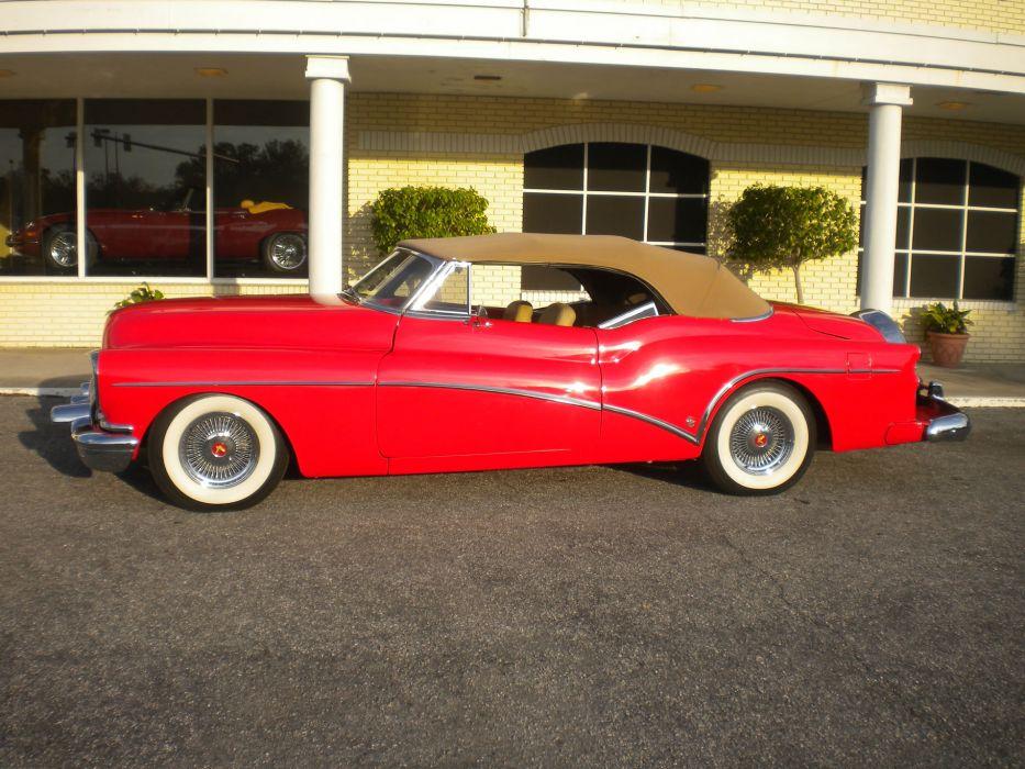 1953 Buick Skylark Convertible retro custom    gf wallpaper