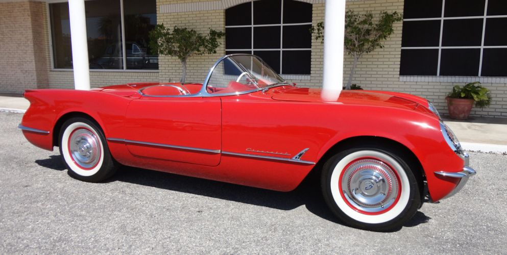 1954 CHEVROLET CORVETTE supercar muscle retro gd wallpaper