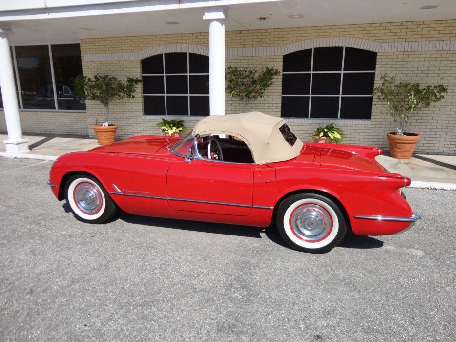 1954 CHEVROLET CORVETTE supercar muscle retro  y wallpaper
