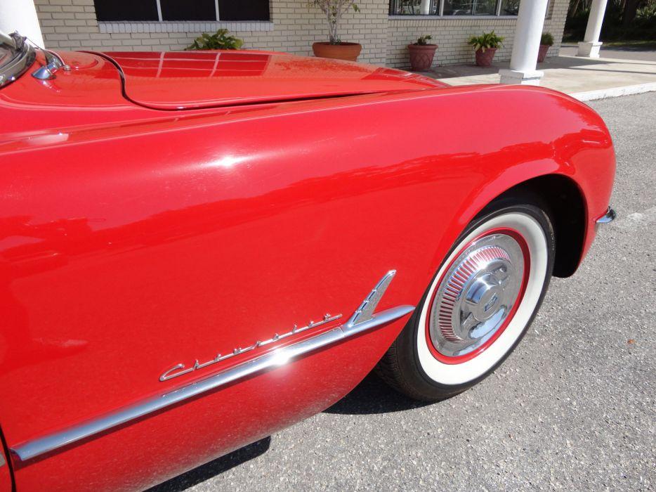 1954 CHEVROLET CORVETTE supercar muscle retro wheel       h wallpaper