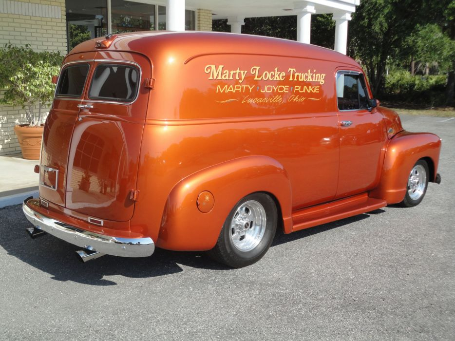 1954 CHEVROLET PANEL TRUCK 3100 retro custom hot rod rods    gd wallpaper