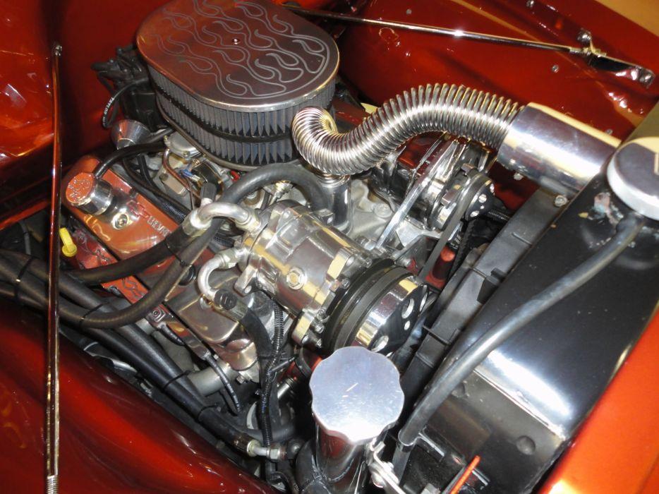 1954 CHEVROLET PANEL TRUCK 3100 retro custom hot rod rods engine     hf wallpaper