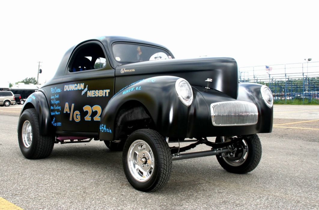 1941 Willys Coupe hot rod rods retro drag race racing   fa wallpaper