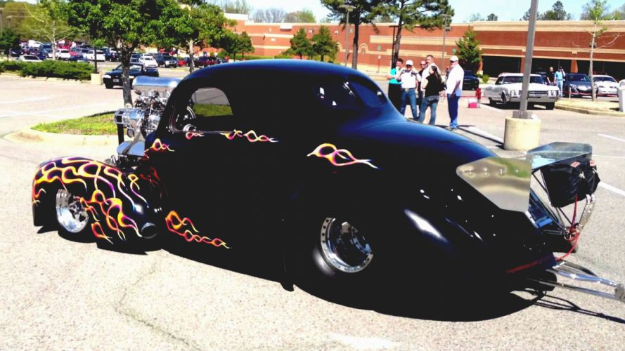 1941 Willys Coupe hot rod rods retro drag race racing hf wallpaper