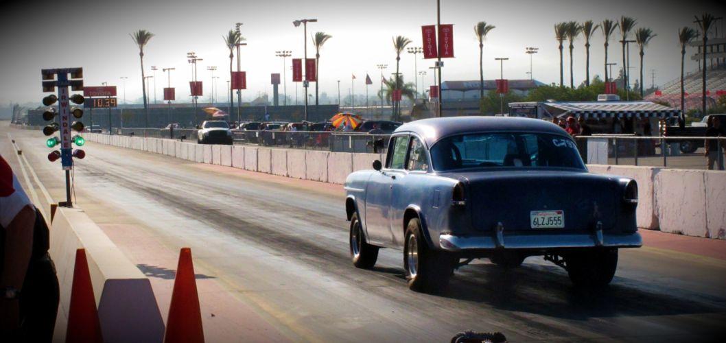 1955 CHEVROLET hot rod rods retro drag racing race gasser d wallpaper