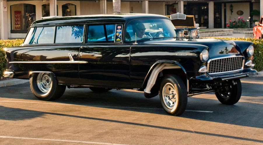 Drag Racing Cars >> 1955 CHEVROLET hot rod rods retro drag racing race gasser stationwagon d wallpaper | 2954x1638 ...