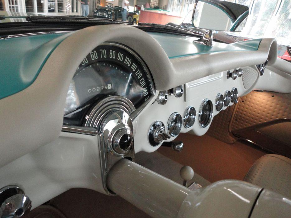1957 CHEVROLET CORVETTE CONVERTIBLE muscle supercar retro interior    g wallpaper