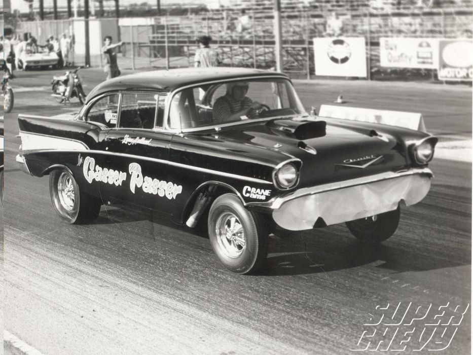 1957 Chevrolet Hot Rod Rods Retro Drag Racing Race Gasser S