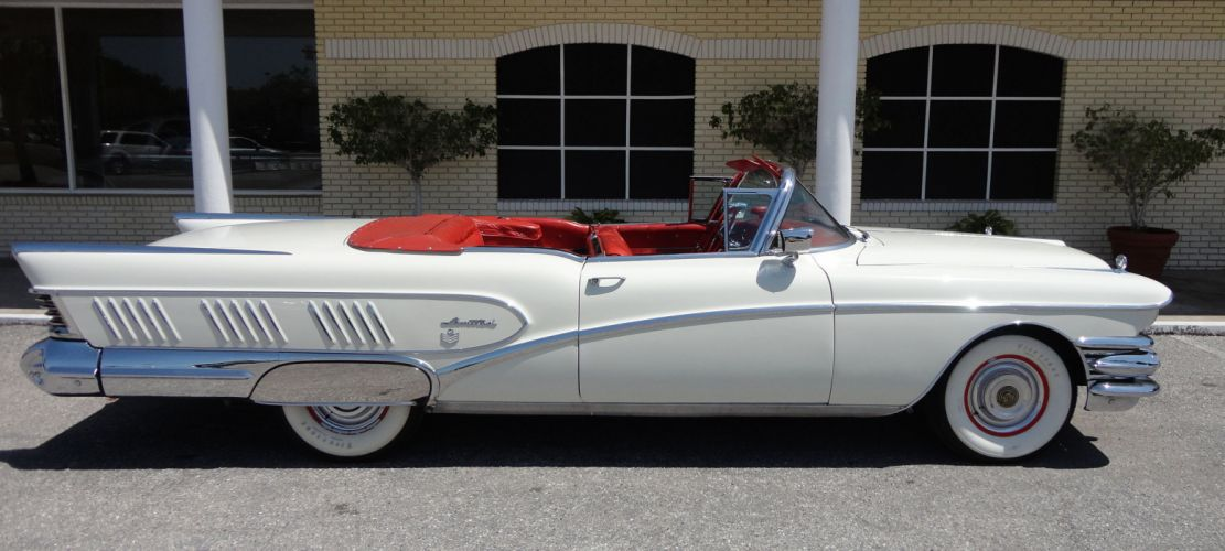1958 BUICK LIMITED CONVERTIBLE retro luxury hs wallpaper
