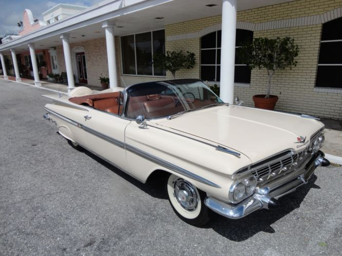 1959 CHEVROLET IMPALA CONVERTIBLE luxury retro gs wallpaper
