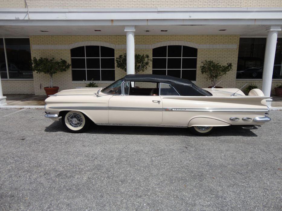 1959 CHEVROLET IMPALA CONVERTIBLE luxury retro gs wallpaper