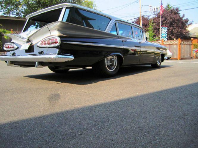1959 Chevrolet Parkwood StationWagon retro hot rod rods f wallpaper