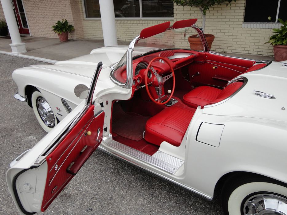 1962 Chevrolet Corvette Convertible supercar classic muscle interior  h wallpaper