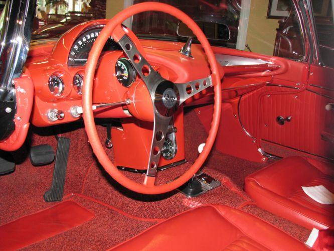 1962 Chevy Corvette Convertible supercar muscle classic interior h wallpaper