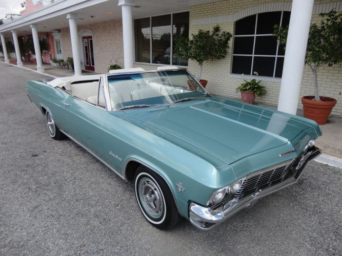 1965 CHEVROLET IMPALA V-8 CONVERTIBLE muscle classic h wallpaper
